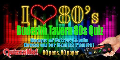 Buderim Tavern 80s Quiz