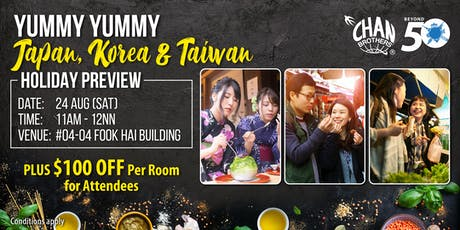 Yummy Yummy Japan, Korea & Taiwan Holiday Preview tickets