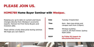HOME789 Home Buyer Seminar with Westpac!