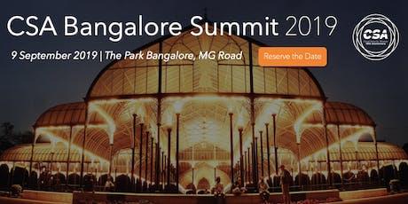 CSA Bangalore Summit 2019 tickets