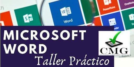 ✓CMG - Microsoft Word Taller Práctico tickets