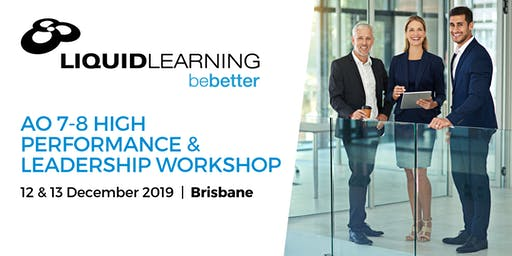 AO 7-8 High Performance & Leadership Workshop