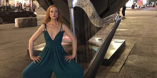 """ERIN HILL'S """"HARP ODDITY - A TRIBUTE TO DAVID BOWIE"""" Friday September 13 7:30 PM  $ 20 Tickets + Fees + NJ Sales Tax"""