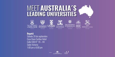 Meet Australia's Leading Universities in Bogotá 2019 boletos