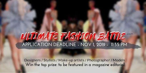 Designer / Stylist / Make-up artist / Photographer competition / Ultimate Fashion Battle