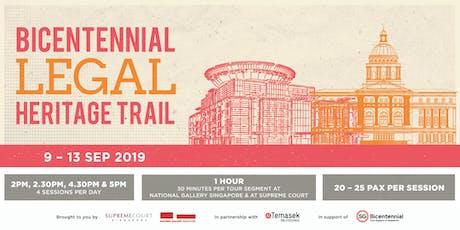 Bicentennial Legal Heritage Trail tickets