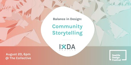 Balance in Design: Community Storytellers tickets