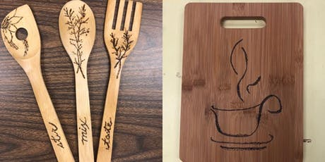 Wood burning on Plaque or Spoons tickets