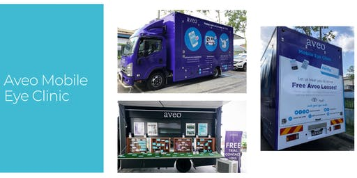 Aveo Mobile Eye Clinic - Free Eye Check & Free Aveo Lenses!