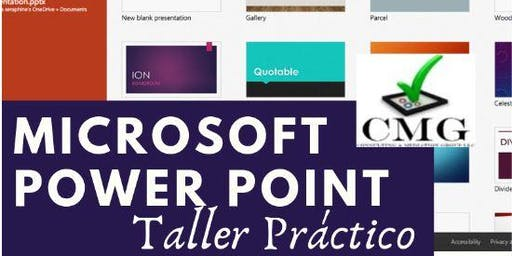 ✓CMG - Microsoft Power Point Taller Práctico