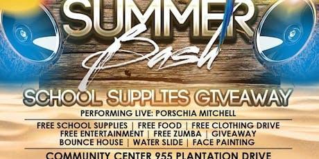 1st Annual Summer Bash...Back2School tickets