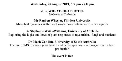 Adelaide Joint Academic Microbiology Seminars  (Adelaide JAMS) 28 August 2019