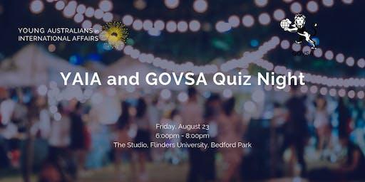 YAIA and GOVSA Quiz Night