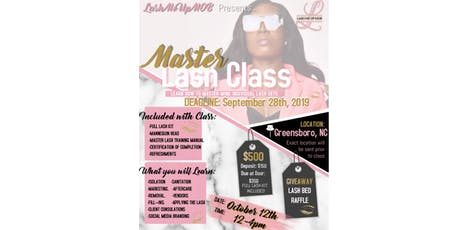 GREENSBORO MASTER LASH CLASS - GHOE tickets