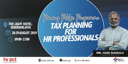 Tax Planning For HR Professionals
