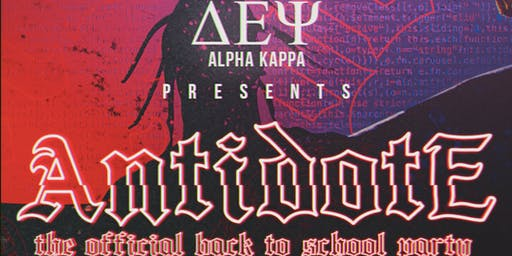 Antidote: The Official Back to School Party
