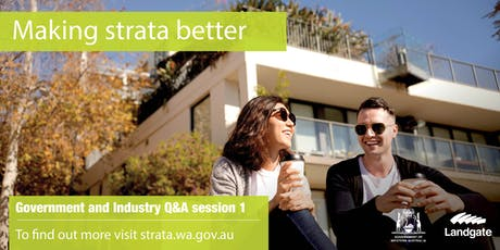 Government and Industry Q&A - Strata Session 1 tickets