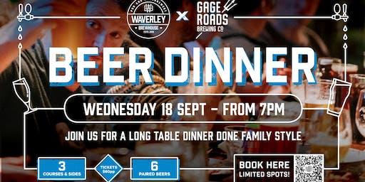 Waverley Brewhouse x Gage Roads Beer Dinner