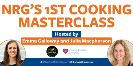NRG Cooking Masterclass with Emma Galloway and Julia Mcpherson tickets
