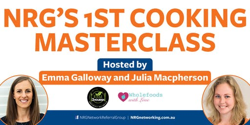 NRG Cooking Masterclass with Emma Galloway and Julia Mcpherson