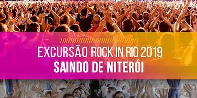 Excursão saindo de Niterói para o Rock in Rio