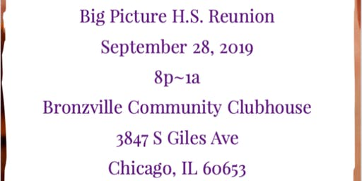 Big Picture H.S. Class Reunion