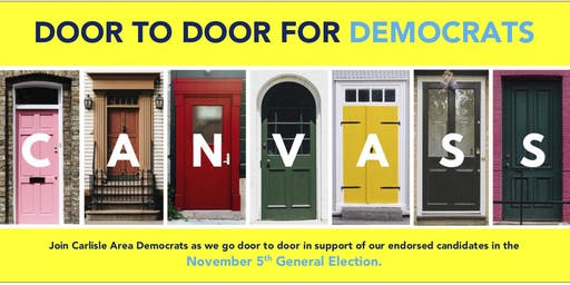 Door to Door for Democrats - Carlisle Area Canvassing