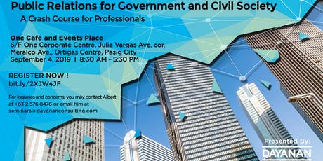 Public Relations for Government and Civil Society: A Crash Course tickets