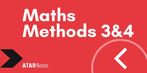 Maths Methods Units 3&4 Exam Revision Lecture