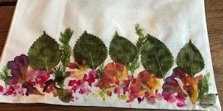 ECO Dyeing with flowers and garden foliage