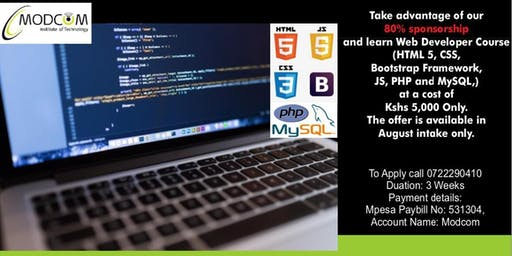 Complete Web Developer Course at a Subsidized Training Fee