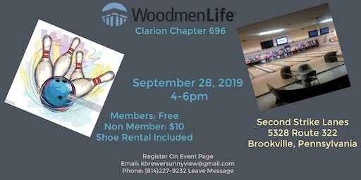 WoodmenLife Chapter 696 Clarion Family Bowling Outing