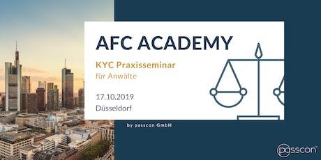 KYC Praxisseminar für Anwälte - AFC Academy Tickets