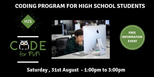 Hack High School Coding Program - Free August Information Event