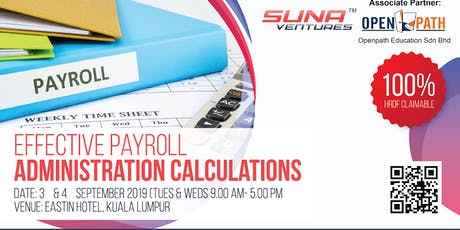 EFFECTIVE PAYROLL ADMINISTRATION CALCULATION  tickets