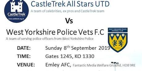 CastleTrek Celebrity UTD v West Yorkshire Police F.C tickets