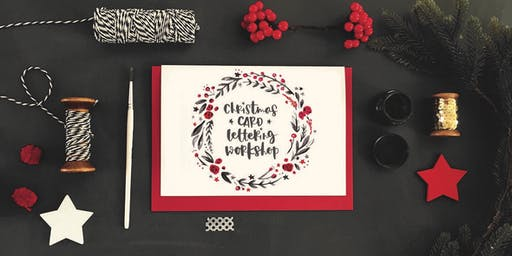 Brush letter festive cards with Jen Roffe