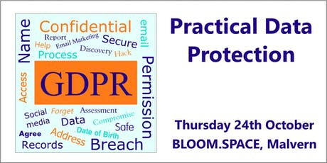 Practical Data Protection, Malvern, Worcestershire tickets