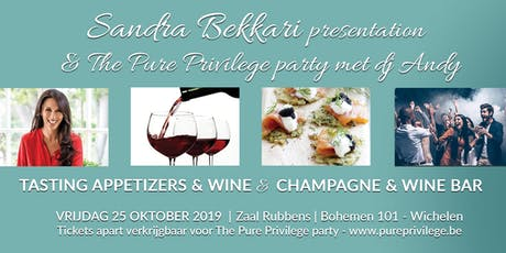 Pure Privilege  Party - Sandra Bekkari  - Tasting  Appetizers & Wine tickets