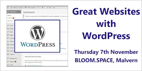 Great Websites with WordPress, Malvern, Worcestershire tickets