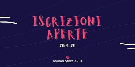 Open Day School of Design - Anno Accademico 2019/20 biglietti