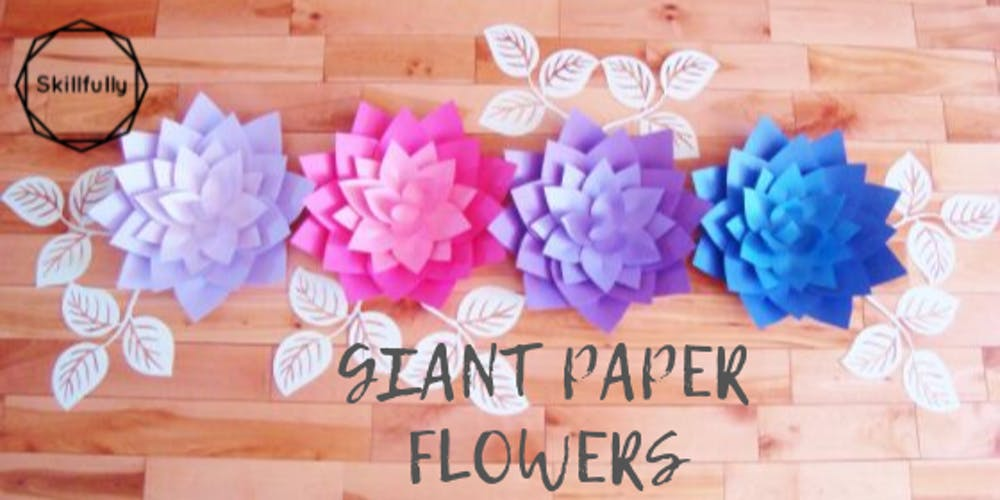 Giant Paper Flowers Toronto Session 2