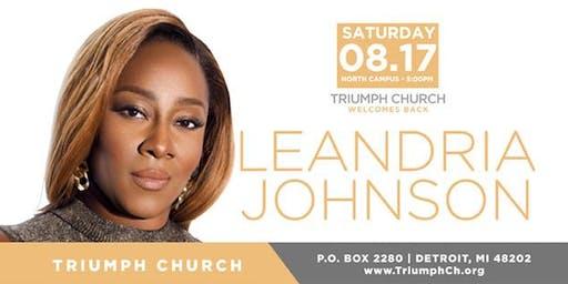 Triumph's Saturday Worship with Le'Andria Johnson