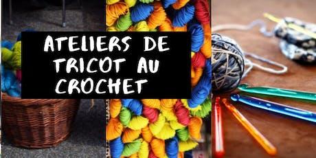 Ateliers de tricot au crochet tickets