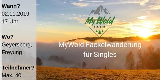 MyWoid Fackelwanderung für Singles