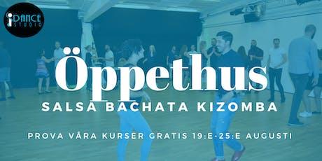 Prova på salsa bachata kizomba gratis i Stockholm tickets