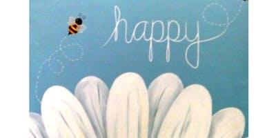 'Bee Happy!' Sip & Paint Workshop