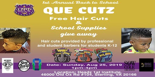 1st Annual Back to School Que Cutz