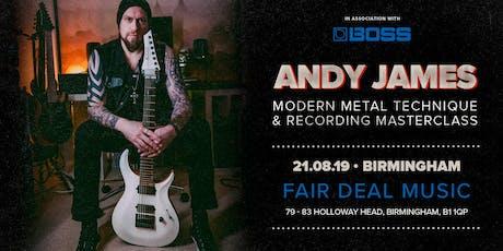 Andy James Masterclass FairDeal Music Birmingham tickets