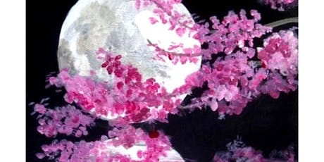 'Moon Blossoms' | Wed 18 Sept, 6:45 pm (2 hours)' Sip & Paint Workshop tickets